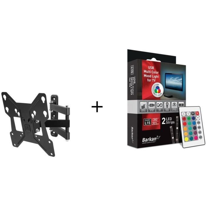 ONE FOR ALL WM2251 Support mural + BARKAN L15 LED Pour TV