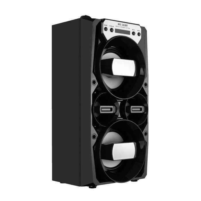 Extérieur Haut-parleur Portable Bluetooth Stéréo Sans Fil Super Bass W - Radio Usb Tf Fm _ly443