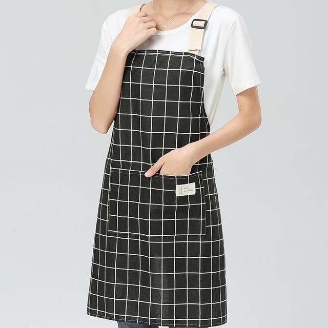 Zencart Tablier De Cuisine En Lin De Coton Ajustable Pour Hommes Et Femmes Lady Cooking Pour La Cuisine Cuisson Au Restaurant Pinaf