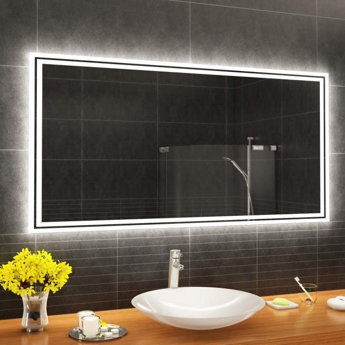 ARTFORMA L57 120x70 cm Illumination LED miroir sur mesure eclairage salle  de bain