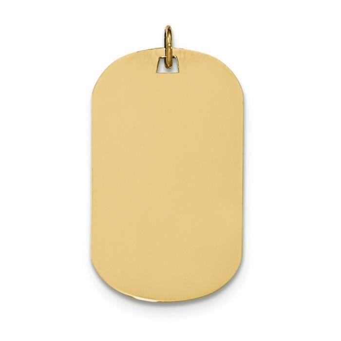 Uni 14 carats .018 jauge Engravable-Dog Tag-disque charme