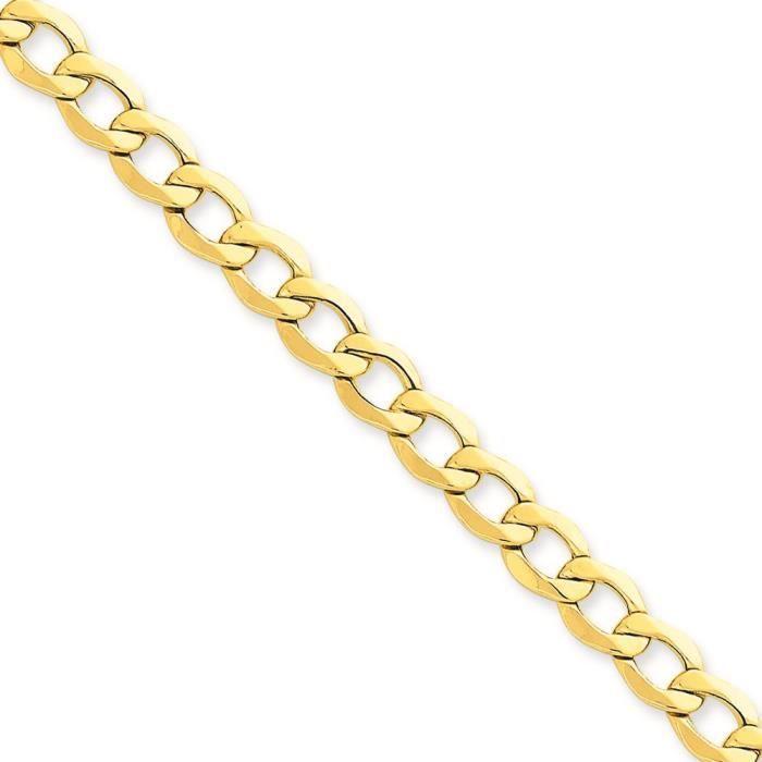 7 mm 14 carats Semi-solide chaîne collier 20 pouces