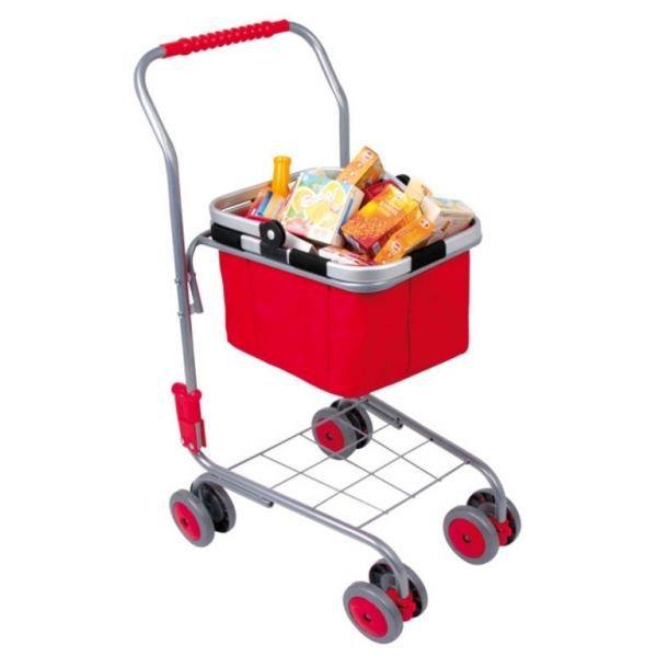 chariot de courses pour enfant avec panier garni achat. Black Bedroom Furniture Sets. Home Design Ideas