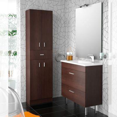 meuble salle de bain 80 cm couleur wengé - achat / vente salle de