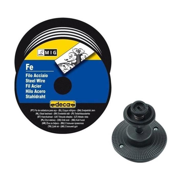 deca bobine fil acier pour soudure mig mag fil 0 6 mm 5 kg avec adaptateur achat vente fer. Black Bedroom Furniture Sets. Home Design Ideas