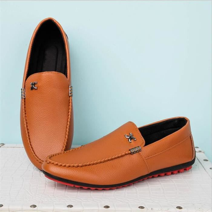 Taille hommes marque Respirant chaussure 2017 arrivee nouvelle Confortable Moccasin luxe de Grande Moccasins Rw7nxq067