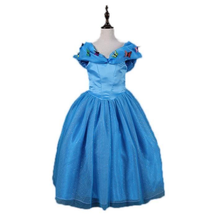 3ff94fc5a05c5 Robe de Cendrillon Fille Robe de Princesse Costume d'halloween Cosplay  Enfant Déguisement Tenue magnifique
