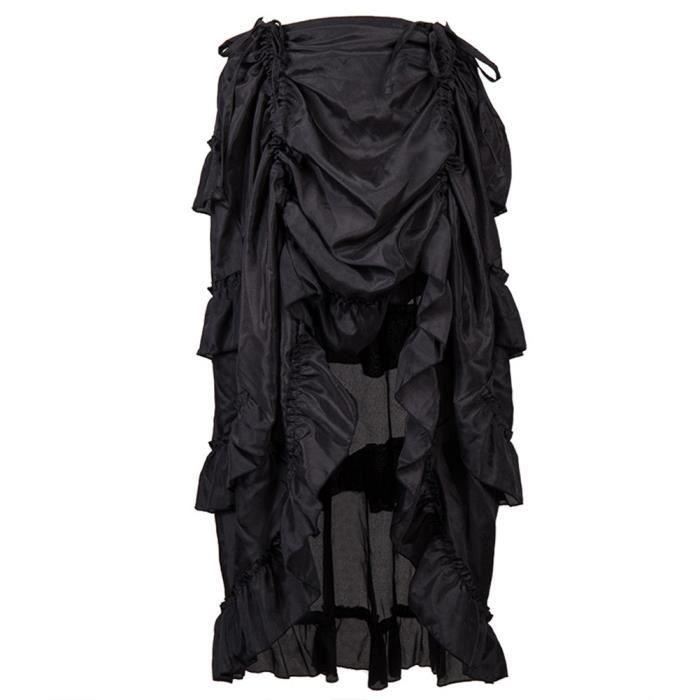 Jupe Femmes Volants Steampunk Pirate Gothique De Noir W29IEDYeH