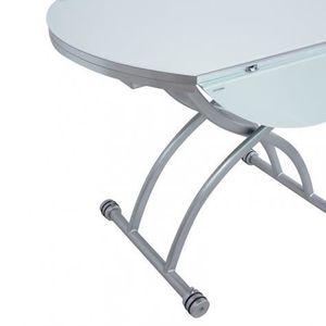 Table ronde avec rallonges achat vente table ronde avec rallonges pas cher cdiscount - Table basse ronde relevable ...