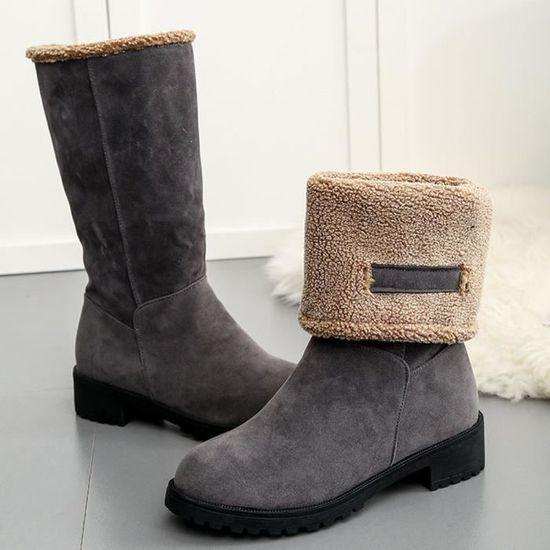 Bottes Femmes D'hiver Neige 2618 Pour Chaussures Mode Chaude Dames Plates De EDYW29eHI