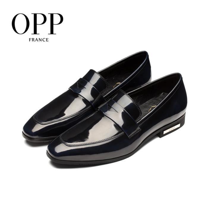 OPP Richelieu Cuir Chaussures Homme OD1622bleu45 Gj1RSSjjgO