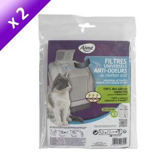 Lot de 2 - AIME Filtres anti odeur - Pour chat