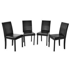 CHAISE 4 X Chaise De Restaurant Confort En PU Avec Assis