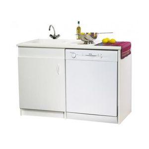 meuble de sous vier option lave vaisselle 120 x 60 achat vente meuble sous vier meuble de. Black Bedroom Furniture Sets. Home Design Ideas