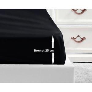 DRAP HOUSSE LOVELY HOME Drap Housse 100% coton 140x190x25 cm -
