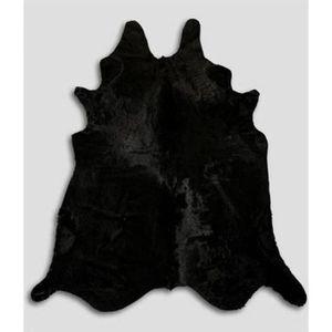 tapis peau de vache noir achat vente tapis peau de. Black Bedroom Furniture Sets. Home Design Ideas