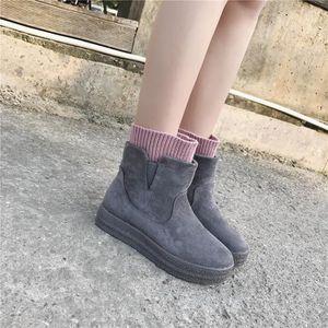 Bottes de neiges Femme Personnalité Qualité SupéRieure Chaussure Anti-Glissement Grande Taille 35-40 l4EIFOf9a