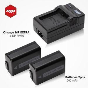 BATTERIE APPAREIL PHOTO 2 x batteries NP-FW50 , NPFW50 + chargeur pour Son