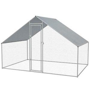 POULAILLER Cage extérieure pour poulets Acier galvanisé 3 x 2