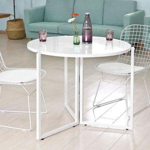 table ronde pliante en bois achat vente pas cher. Black Bedroom Furniture Sets. Home Design Ideas