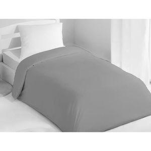 HOUSSE DE COUETTE SEULE Housse de couette 140x200 cm coton uni gris