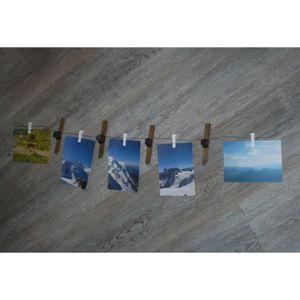 PÊLE-MÊLE PHOTO Guirlande pêle-mêle ski et pinces à la linge