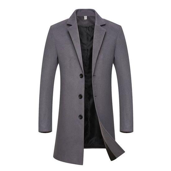 ffb37012d4881 Revers Vêtement Uni Hiver Longue Parka Masculin De Marque Luxe Homme  Vêtements azHc18H