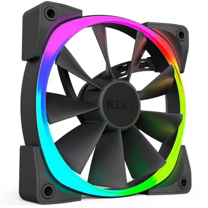 NZXT Ventilateur PC à commande numérique Aer RGB - LED RGB - 140 mm - Compatibilité avec HUE+ et CAM