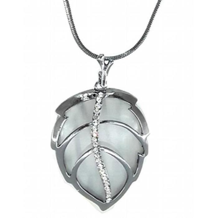 Diamond Jewellery Statet américain femmes Feuille pendentif en forme - collier pour etS9KKW