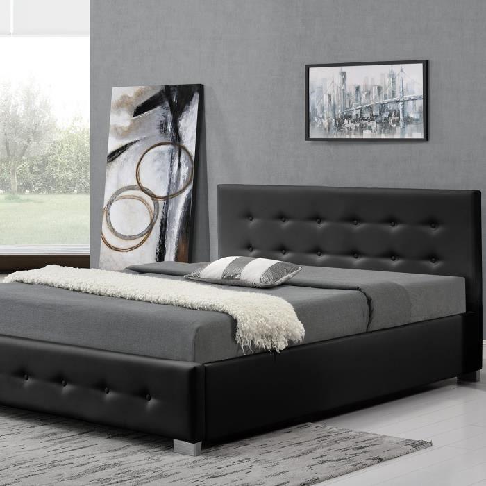structure de lit 140x190 avec rangement achat vente. Black Bedroom Furniture Sets. Home Design Ideas