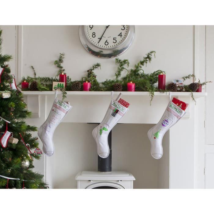 Botte De Noël En Coton à Colorier Puis à Laver Pour Effacer