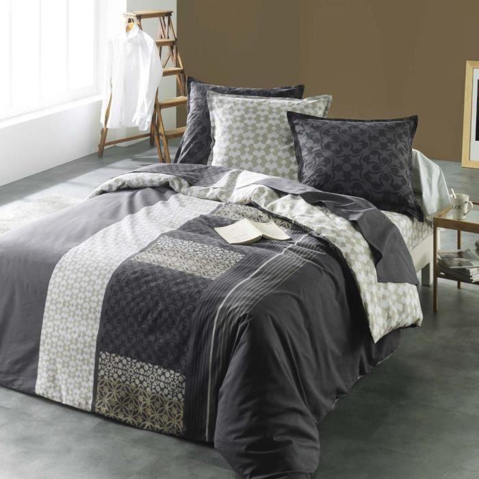 housse de couette taie roma achat vente parure de couette cdiscount. Black Bedroom Furniture Sets. Home Design Ideas