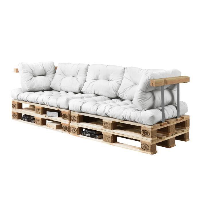 canap d angle en palettes coussin blanc 3 places avec palettes rembourrage appui achat. Black Bedroom Furniture Sets. Home Design Ideas