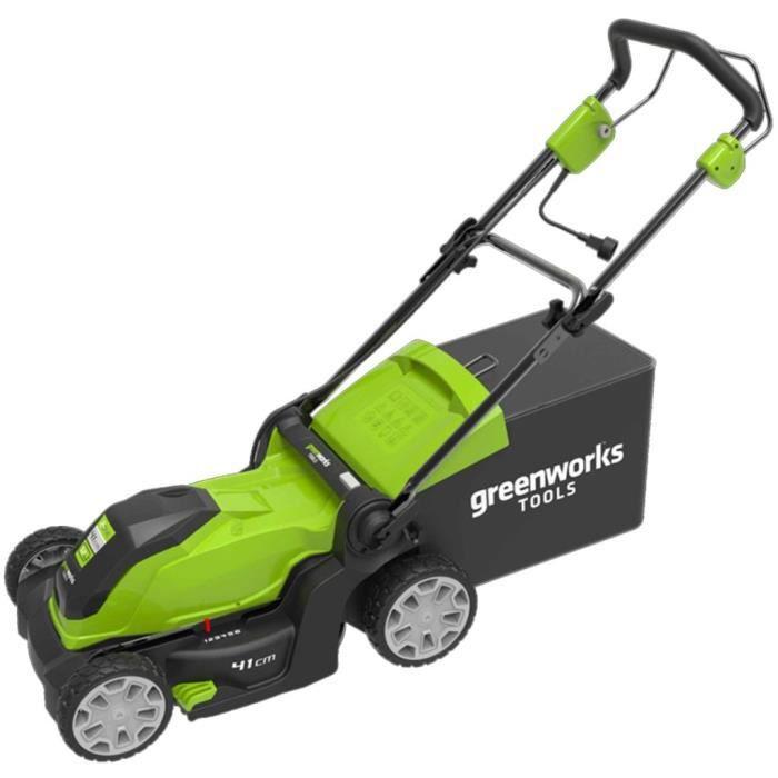 Greenworks Tondeuse à gazon électrique GLM1241 230 V 41 cm 2505207 ... e9aa525de926