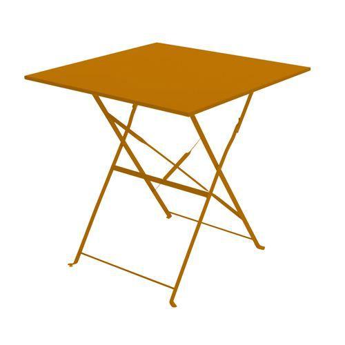 Table de jardin pliante Camarque - 70x70 cm Orange - Achat / Vente ...