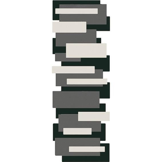 tapis couloir design pebbles noir par angelo - achat / vente tapis