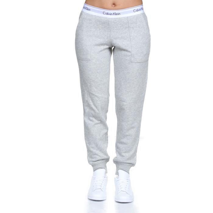 Jogging femme Calvin Klein Qs5716e Bottom Pant ... Gris Gris - Achat ... 1df7e6abd3b