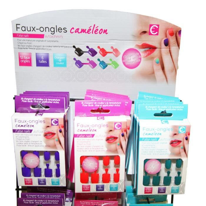 FAUX ONGLES Kit Faux Ongles French Manucure Caméléon
