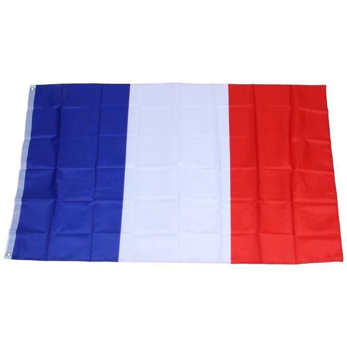 best authentic e5b18 4a0e3 Drapeau France 150x90cm - Drapeau francais 90 x 150 cm - supporter Football  Coupe du Monde Foot(4 Drapeaux)