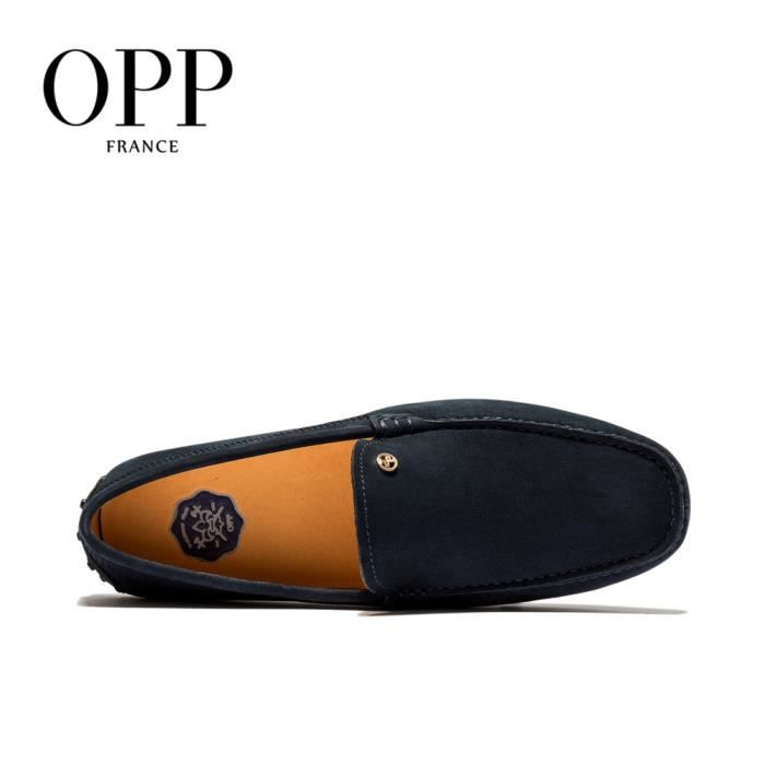 OPP Chaussures Hommes Confortable Moccasins Durable OD17127-7sombre bleu45