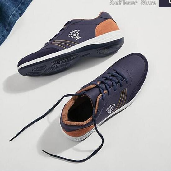 Chaussure Chaussure Chaussure Homme Basket Homme Rosh Run Sandals Espadrilles chaussures en cuir Bleu Bleu - Achat   Vente basket 23efe9