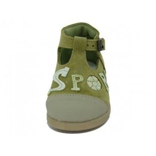 sandales / nu pieds little mary - chaussures cuir sportif filles little mary h52lm002 18 Jaune xuhNxnFqW3