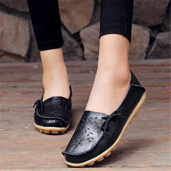 Mode De Vritable Plates Femmes 8 Cuir Mocassins Slip Femme En On Chaussures Couleurs Appartements 17nqIFwS