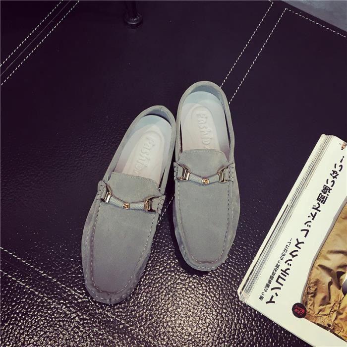 AEQUEEN Mocassins Suédé Homme Décontracté Chaussures Plates Souple zjUNzY5xjF