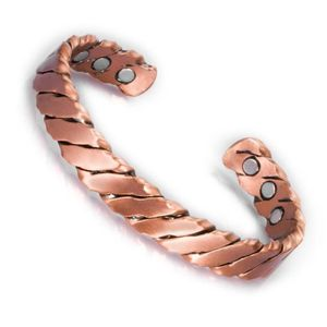 BRACELET - GOURMETTE Bracelet en cuivre torsadé avec compression en cui