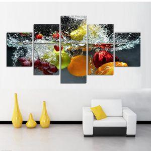 OBJET DÉCORATION MURALE 5 Panneaux d'art murale Peinture Impression Sur To