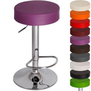 Tabouret de bar violet achat vente tabouret de bar violet pas cher cdis - Tabouret cuisine cuir ...
