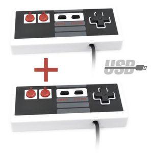 JOYSTICK JEUX VIDÉO 2PCS GILGOTT Retro USB NES Contrôleur de Jeu Ninte