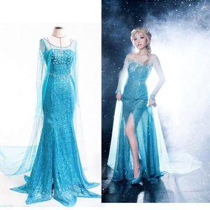 Robe princesse bleu adulte