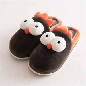 Les pantoufles de luxe pour enfants Ours de dessin animé luxueux Mignon confortable pantoufles de famille de qualité chaude syBUD